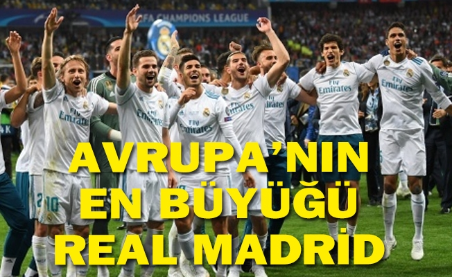 Şampiyon Real Madrid